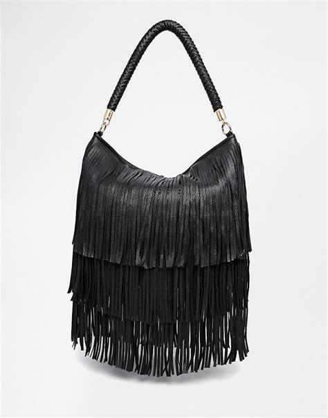 asos asos fringe shoulder bag at asos