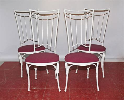 four painted faux bamboo wrought iron chairs for sale at - Painted Faux Bamboo Furniture