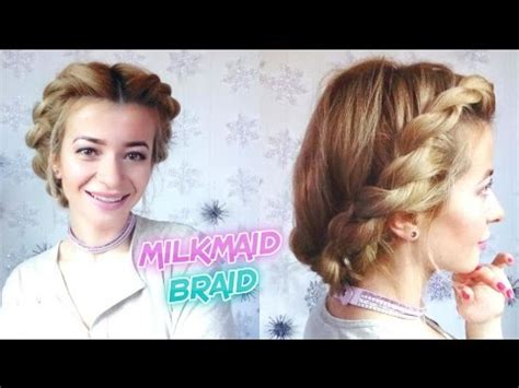 easy hairstyles yt easy hairstyle everyday rope twisted halo milkamid braid