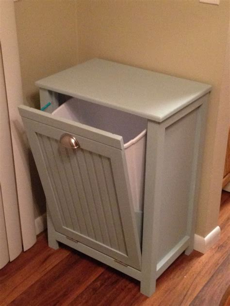 cabinet garbage can diy trash can cabinet diy pull out garbage can