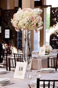 clear trumpet floral vase wedding centerpiece receptions