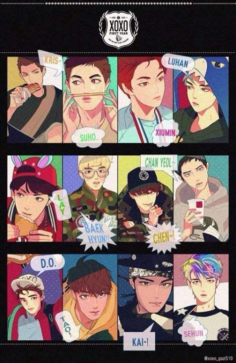exo anime exo anime version they are boys from anime perfect