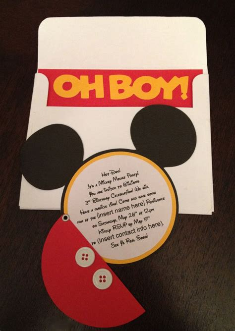popular mickey mouse birthday invitations as birthday party