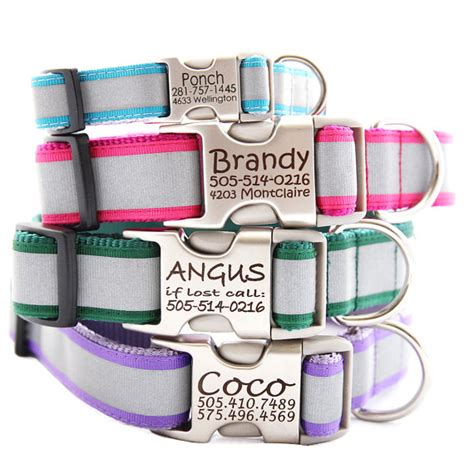 personalized reflective collars personalized reflective collar with laser engraved