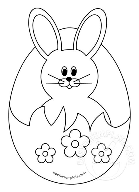 easter bunny in a broken egg easter template