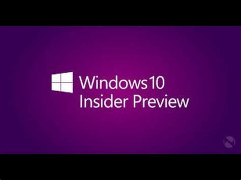 youtube windows 10 tutorial windows 10 insider preview tutorial youtube