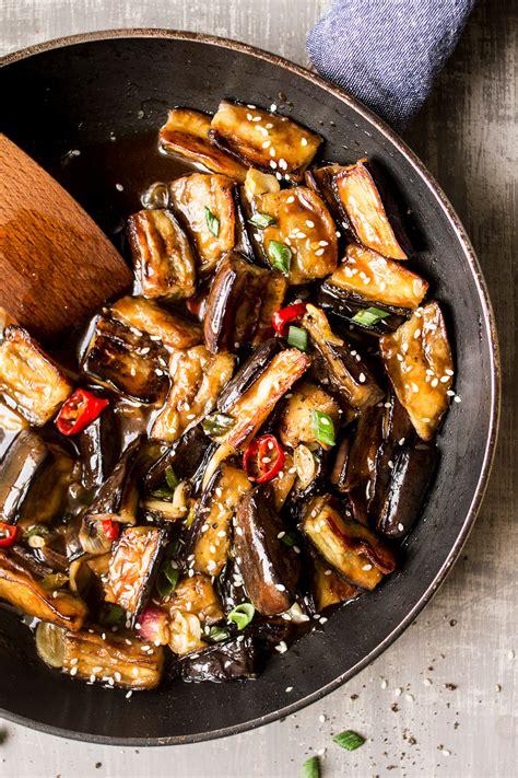 vegan chinese aubergine lazy cat kitchen