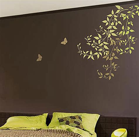 bedroom wall stencil ideas vine stencils stencil designs for diy wall decor