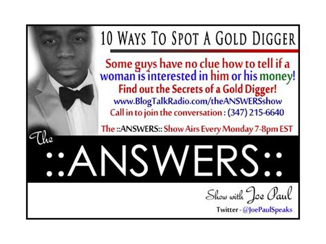 Ways To Spot A by Answers Quot 10 Ways To Spot A Gold Digger Quot 11 04 By The