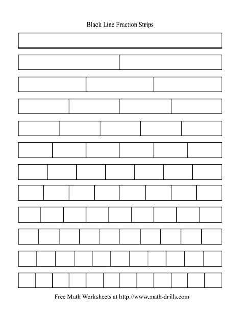 printable math worksheets fraction bars 5 best images of printable fraction bar worksheets blank