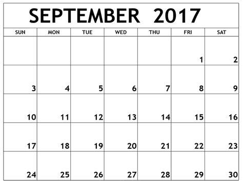 printable monthly calendar september 2017 calendar september 2017 print out calendar and images