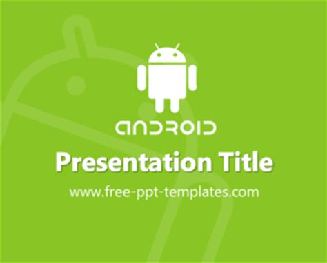 ppt templates for android green android ppt template