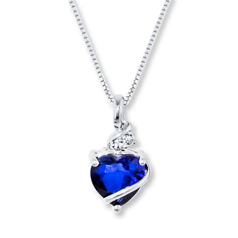 jared blue white lab created sapphire sterling silver