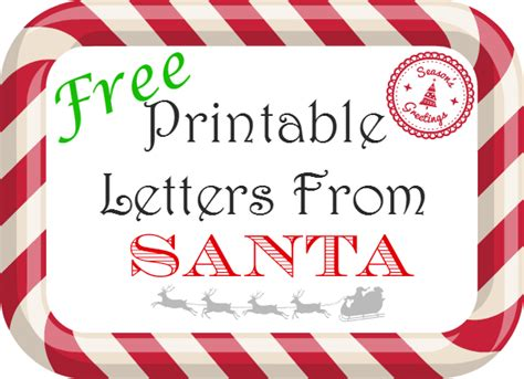 santa letters free free printable letters from santa 1609