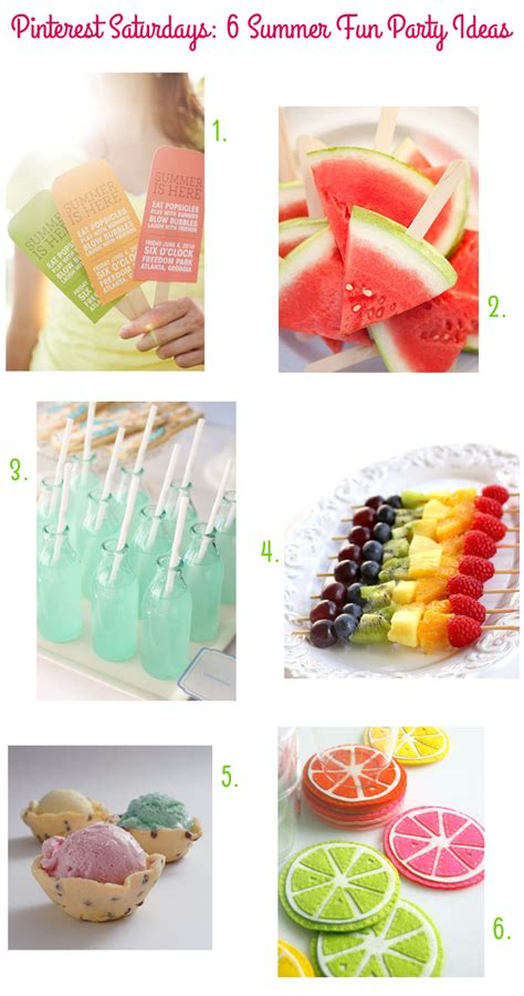 pinterest ideas pinterest saturdays 6 summer fun party ideas style for a happy home