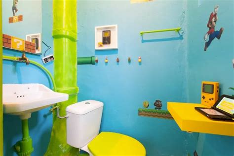 Mario Bros Bathroom by You Can Stay In This Amazing Mario Themed Airbnb In