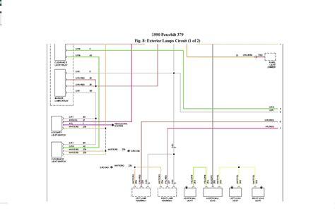 headlight wiring diagram for a 99 peterbilt379 wiring