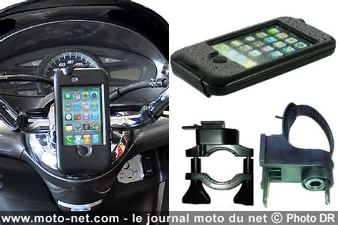 divers support iphone tg bike console pour moto et scooter