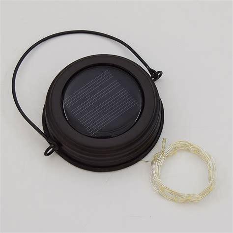 solar lid light hanging solar lid w tear led lights brown