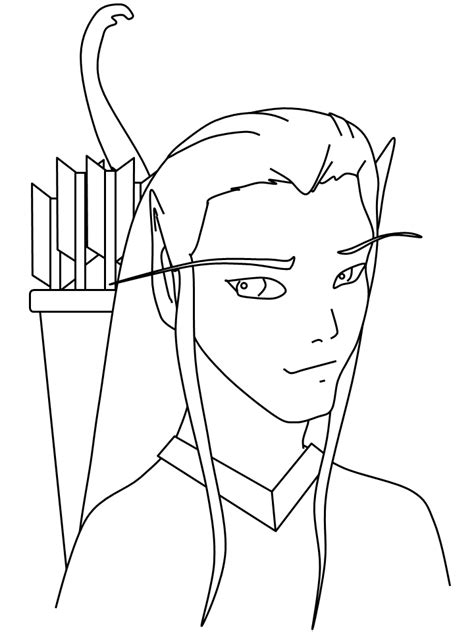 simple elf coloring page free printable fantasy coloring pages for kids best