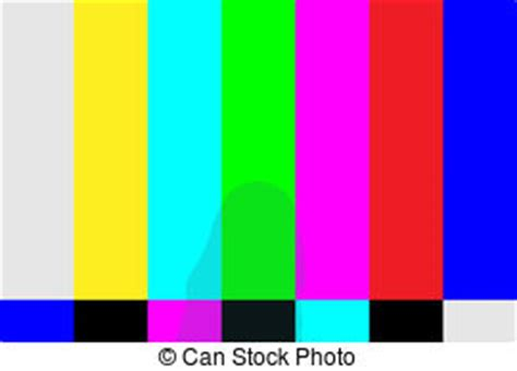 tv test pattern vector tv color test pattern test card for pal and ntsc clipart