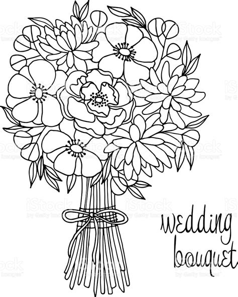 Wedding Bouquet Illustration by Wedding Bouquet With Flower Stock Vector More Images