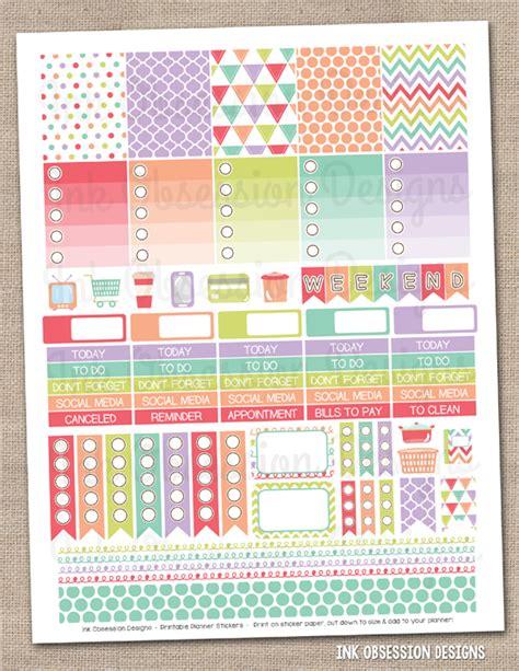 printable planner stickers pdf sugar collection printable planner stickers pdf instant