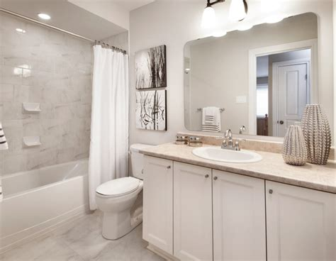 model homes transitional bathroom ottawa by tartan