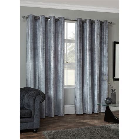 metallic silver drapes radiance metallic velvet fully lined curtains 46 x 54 quot b m