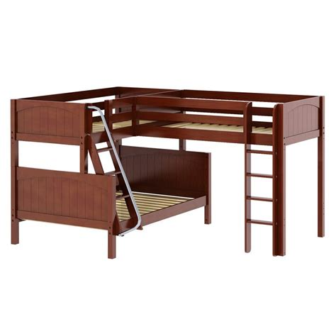 Trinity Corner Loft Twin Over Full Bunk Bed Corner Loft Bunk Beds