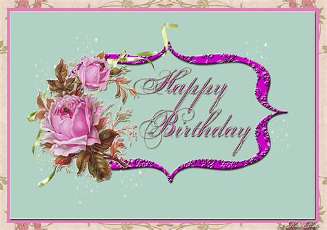 Birthday Digital Cards Freebie Digital Happy Birthday Card
