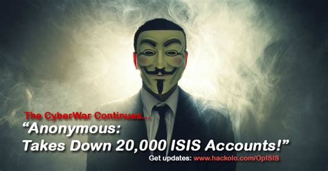anonymous tutorial hack isis anonyme prend vers le bas 20 000 isis comptes twitter