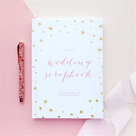 Wedding Planning Book Cover by Wedding Planner Book Engagement Gift By Blush And Gold