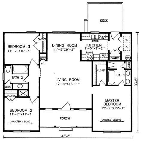 floor plans aflfpw13992 1 story farmhouse home with 4 luxury contemporary one story house plans simple house