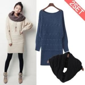 Set Sweater Knit Dress stylementor korean fashion and clothing