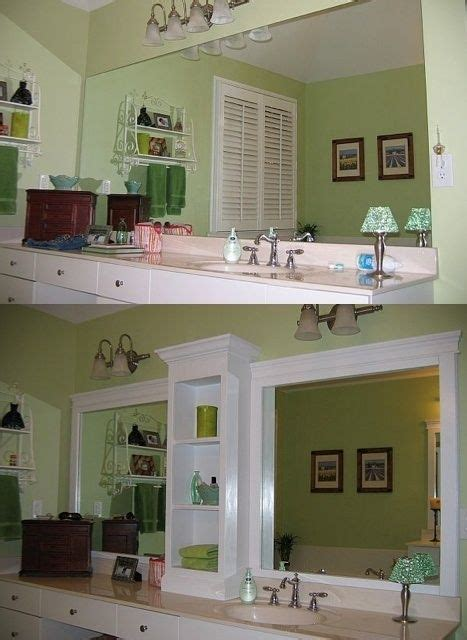 bathroom mirror makeover rev that large bathroom mirror