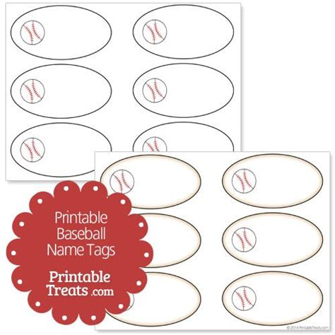 printable baseball tags free printable baseball name tags from printabletreats com