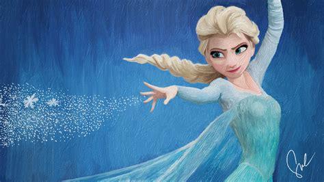 elsa painting disney s frozen elsa the snow painting by