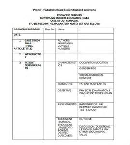 studies format template doc 585570 study template 12 study templates