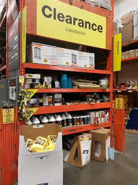 home depot shopping guide clearance items marked to