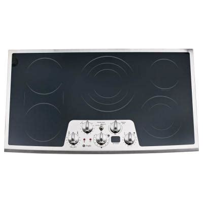 ge profile electric cooktop 36 ge profile cleandesign 36 in smooth surface radiant
