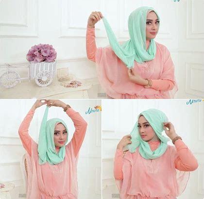 tutorial hijab pesta nikahan tutorial hijab ke pesta pernikahan pakai selendang ala