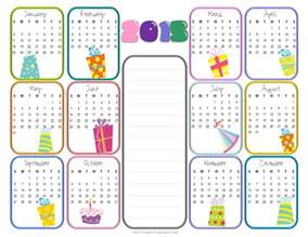 yearly birthday calendar calendar printable free