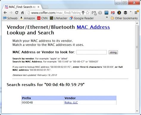 Bluetooth Mac Address Finder Mac Address Lookup Table