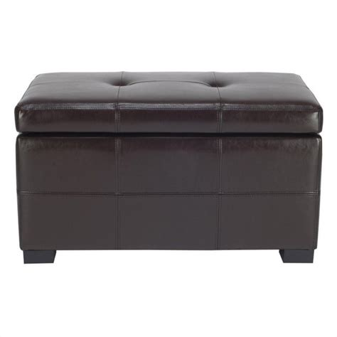 short ottomans safavieh small maiden tufted leather storage ottoman in