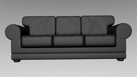 model on couch leather couch 3d model obj blend cgtrader com