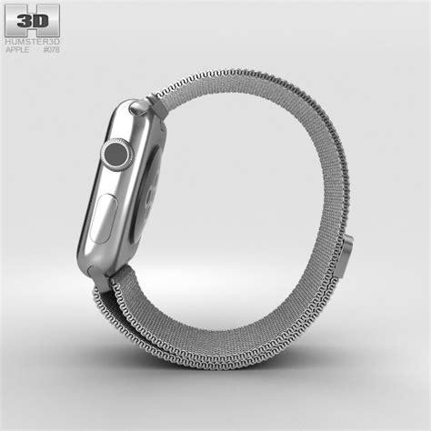 Apple Milanese Loop Army Style 42mm apple 42mm stainless steel milanese loop 3d model hum3d