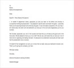 Letters To Staff Templates by Thank You Letter To Employee 13 Free Word Excel Pdf