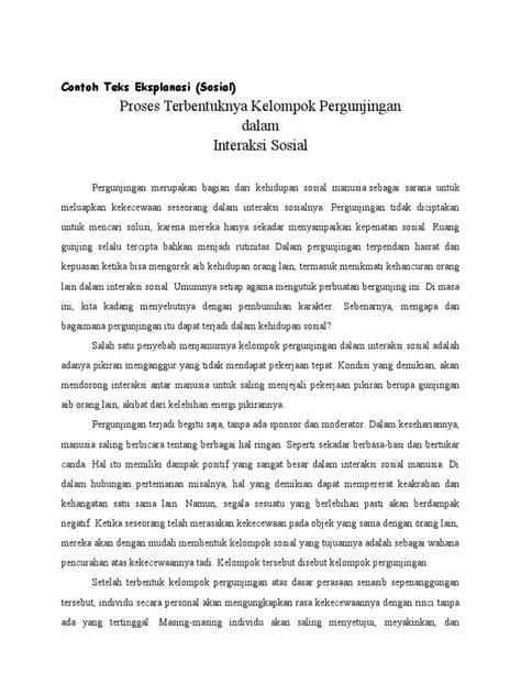 contoh teks eksplanasi bhsa indonesia