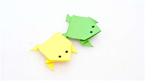 Simple Frog Origami - origami origami frog traditional model origami frog